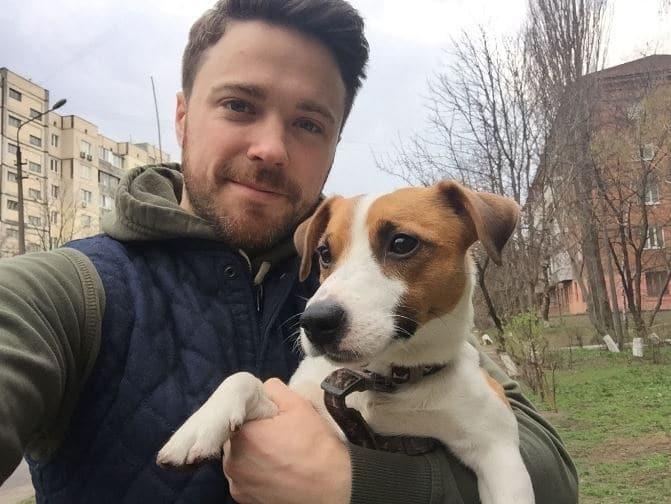 Олександр Попов и пес Бенджамин