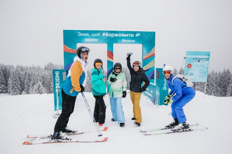 В Буковеле открыли первый в Украине бесплатный парк зимних развлечений