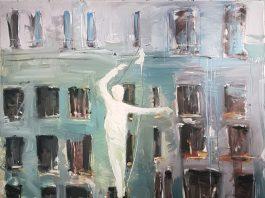 28 сентября в Lera Litvinova Gallery открывается новая групповая выставка «Большой формат» Шаповал Канатоходец