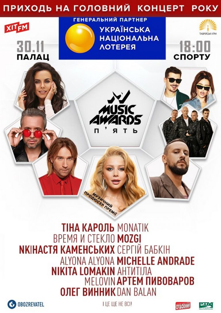 M1 Music Awards. Пять: список номинаций иноминантов музыкальной премии