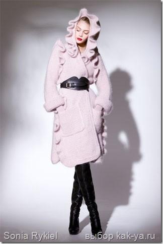 Вязаные пальто sonia rykiel