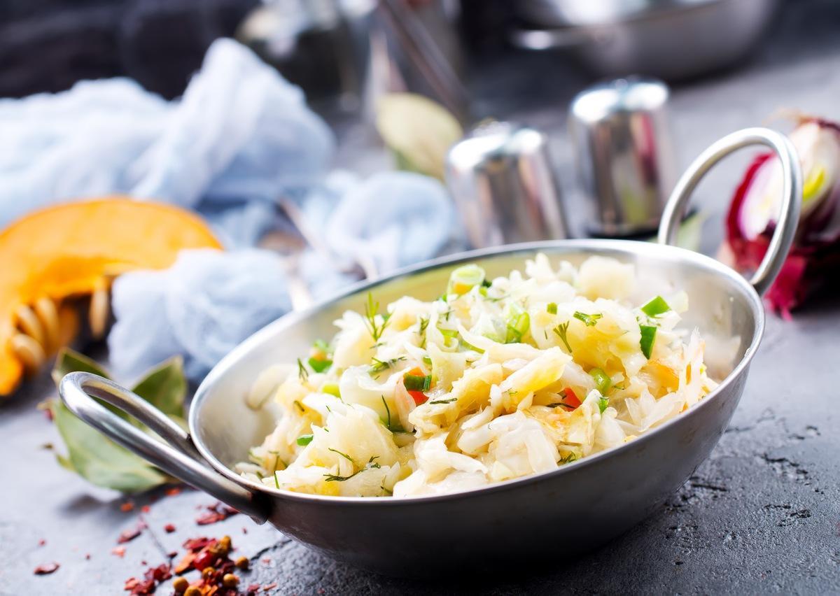 Sauerkraut mit Meeresfrüchten