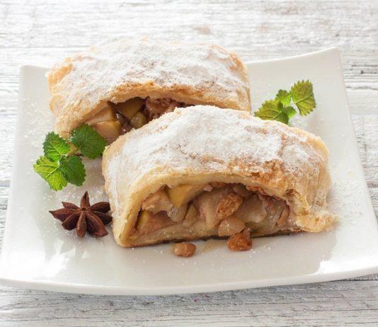 Пиріг із листкового тіста з яблуками